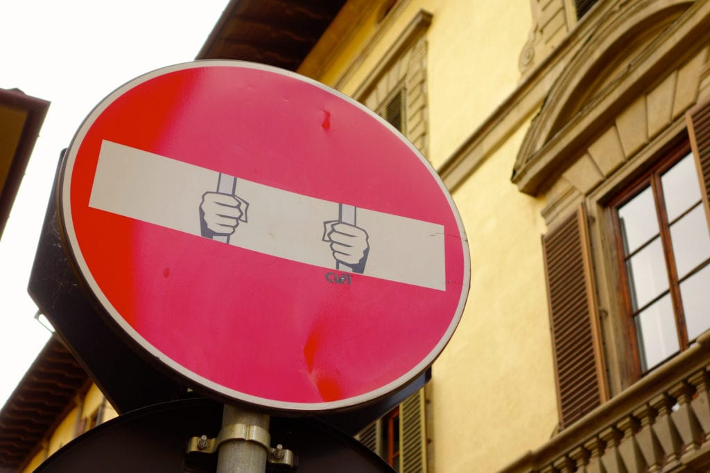 Traffic signs Florence