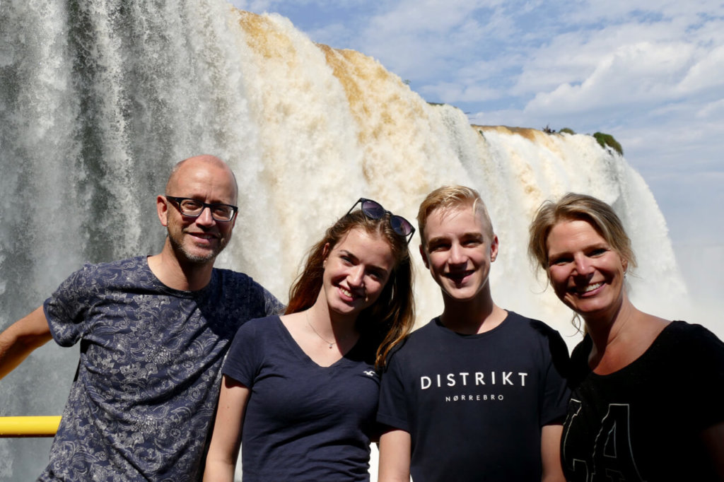 Family at Iguazu