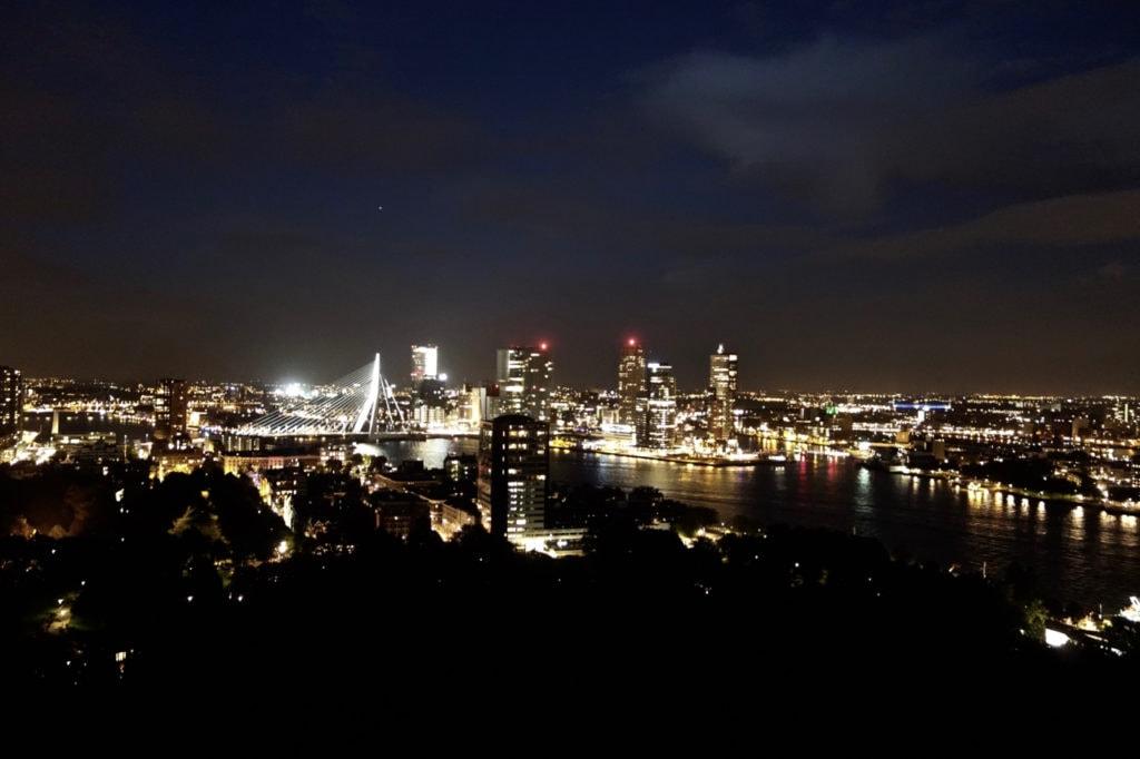 Evening view Rotterdam