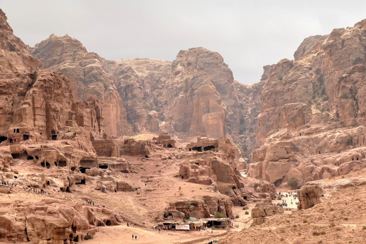 View on city of Petra
