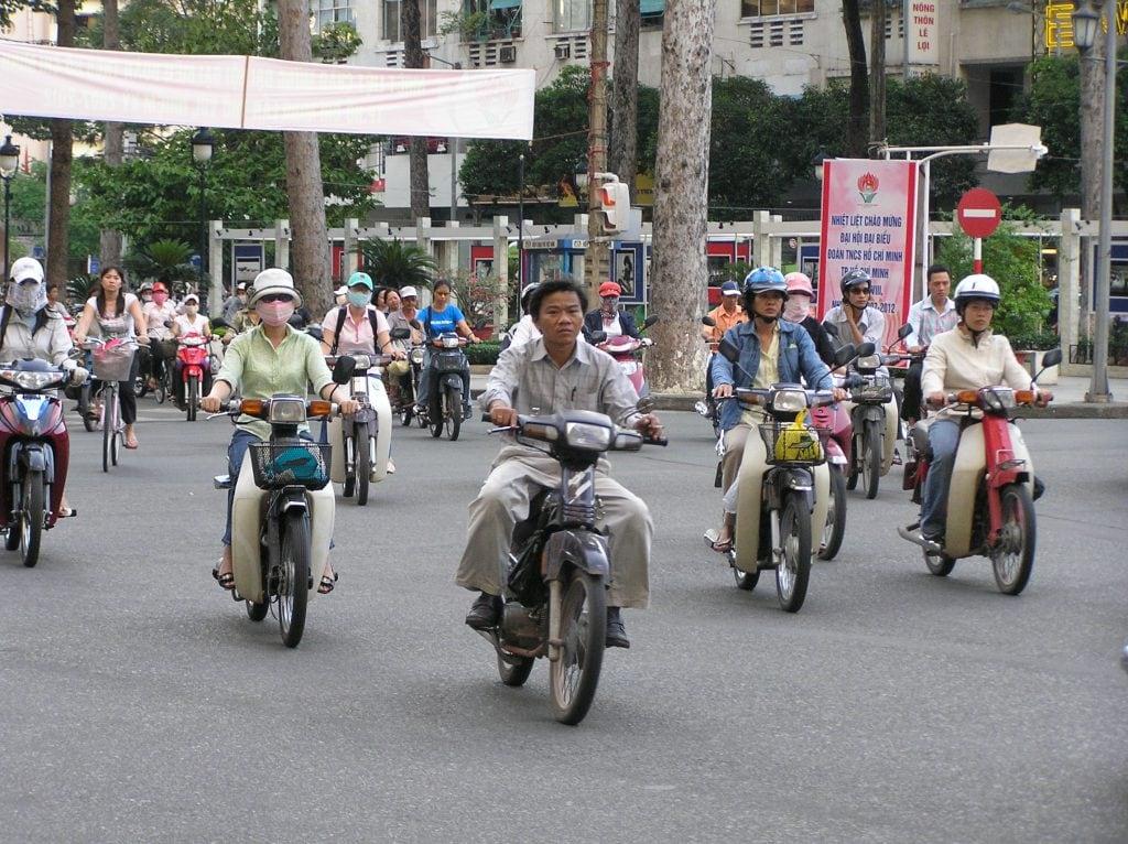Streets of Hanoi motorbike