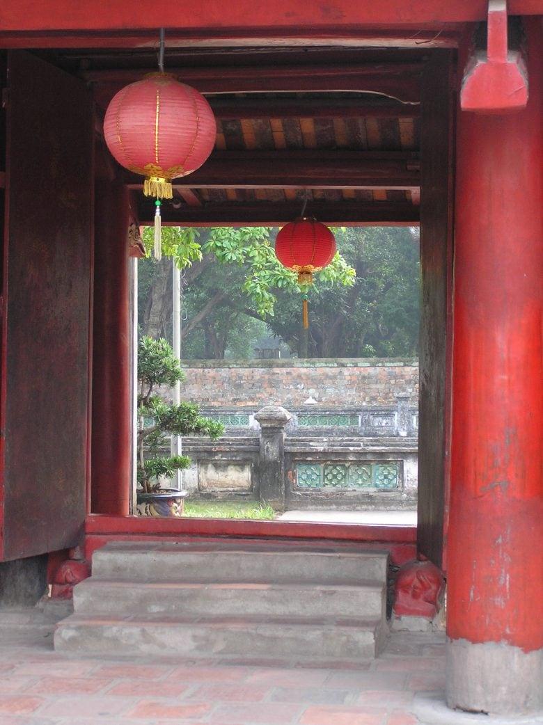 Hanoi Literature temple red