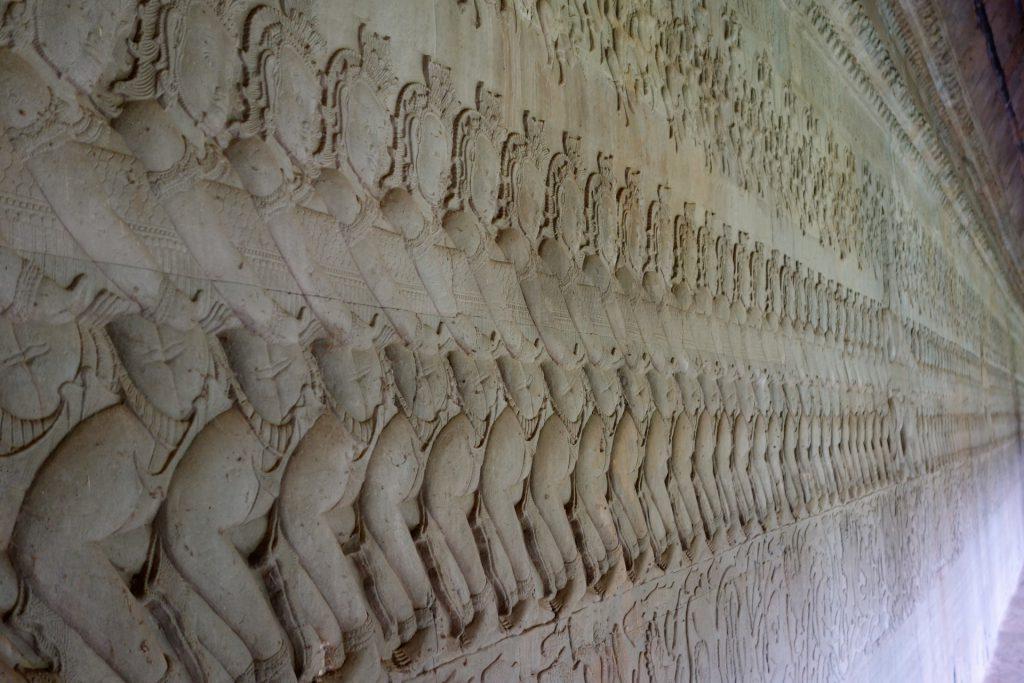 Inside Angkor Wat temple