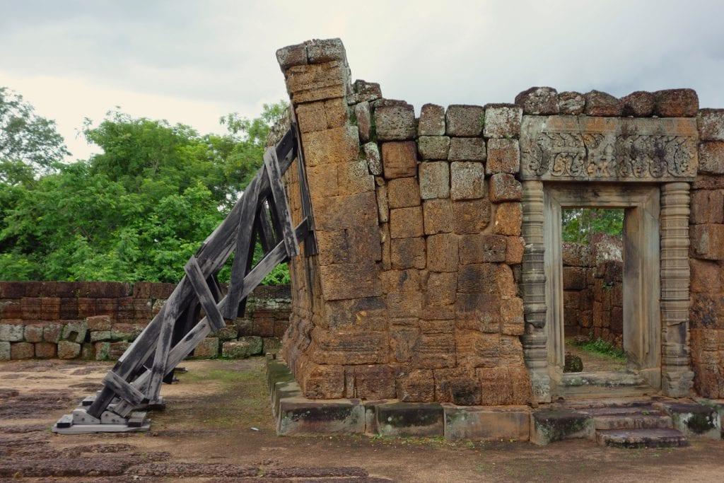 Angkor temple renovation