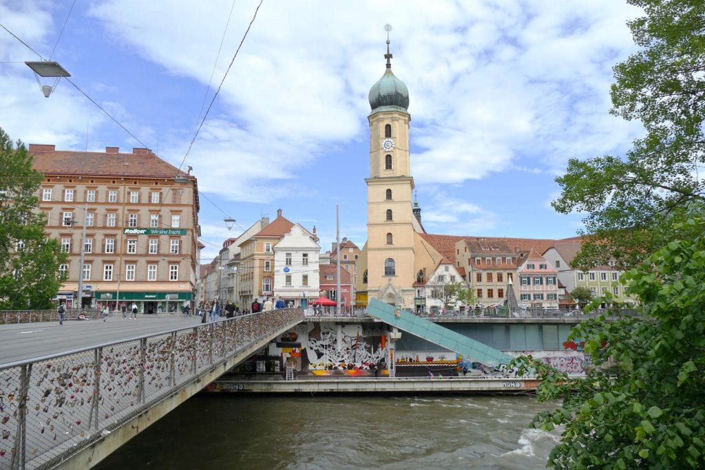Graz bridge city
