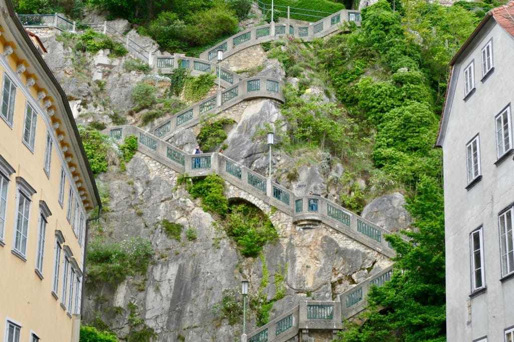 Graz stairs Schlossberg
